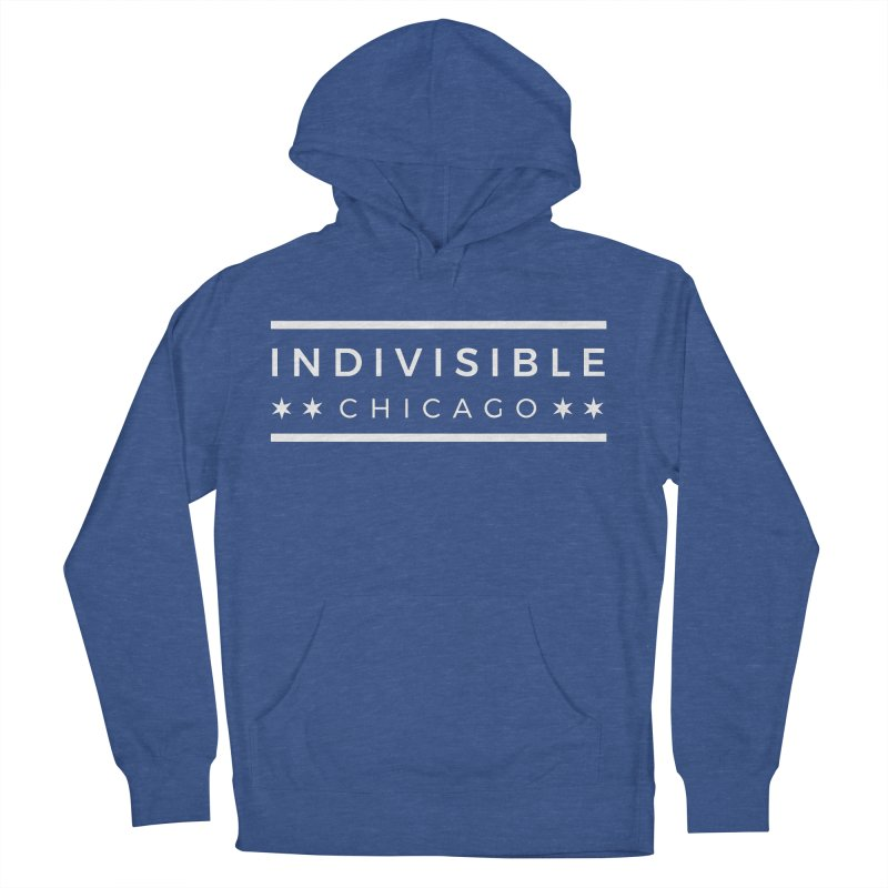 Logo Single Color Men's French Terry Pullover Hoody by Indivisible Chicago Store