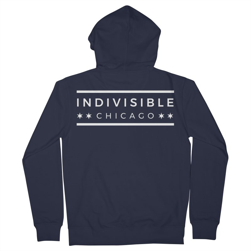 Logo Single Color Men's French Terry Zip-Up Hoody by Indivisible Chicago Store