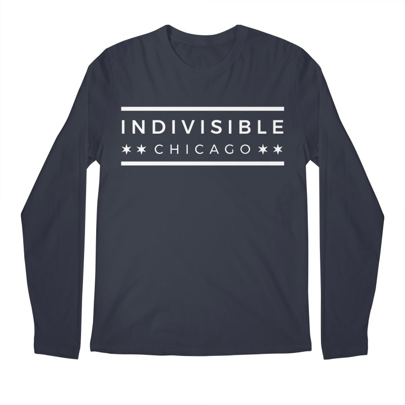 Logo Single Color Men's Regular Longsleeve T-Shirt by Indivisible Chicago Store