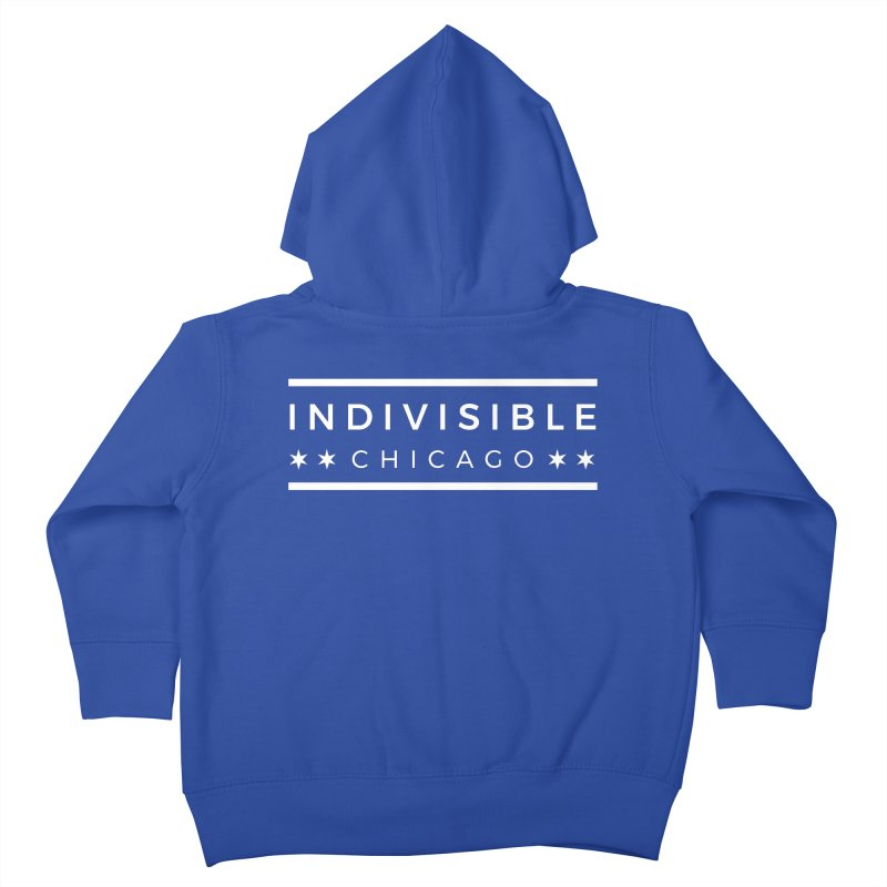 Logo Single Color Kids Toddler Zip-Up Hoody by Indivisible Chicago Store