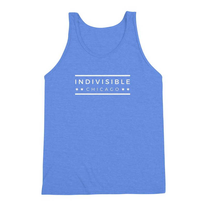 Logo Single Color Men's Triblend Tank by Indivisible Chicago Store