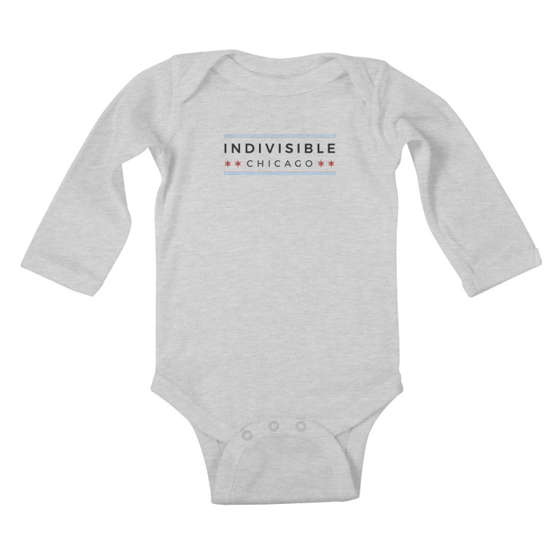 Logo Classic Kids Baby Longsleeve Bodysuit by Indivisible Chicago Store