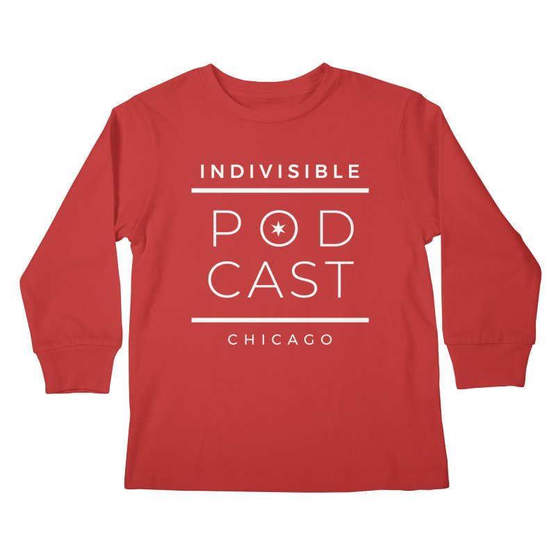 Indivisible Podcast Logo Kids Longsleeve T-Shirt by Indivisible Chicago Store