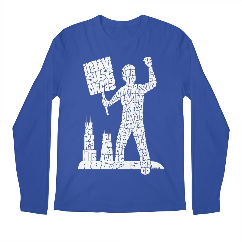 Joe Mills White Men's Regular Longsleeve T-Shirt by Indivisible Chicago Store