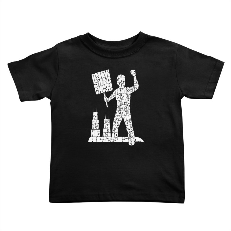 Joe Mills White Kids Toddler T-Shirt by Indivisible Chicago Store