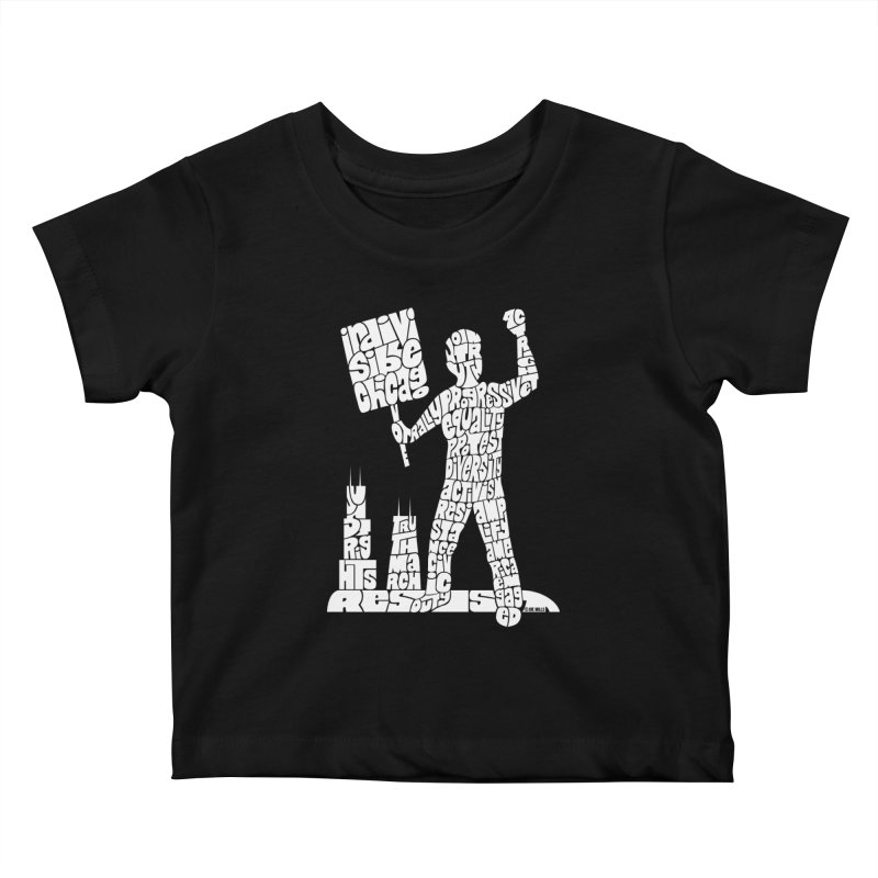 Joe Mills White Kids Baby T-Shirt by Indivisible Chicago Store