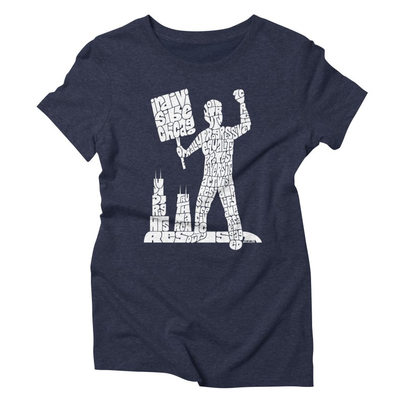 Joe Mills White Women's Triblend T-Shirt by Indivisible Chicago Store