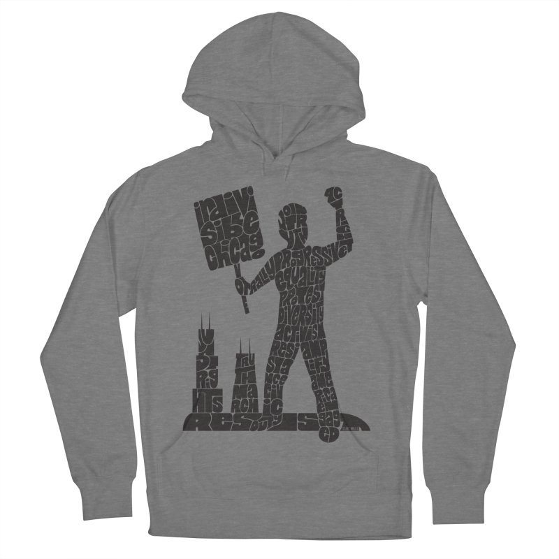 Joe Mills Black Men's French Terry Pullover Hoody by Indivisible Chicago Store
