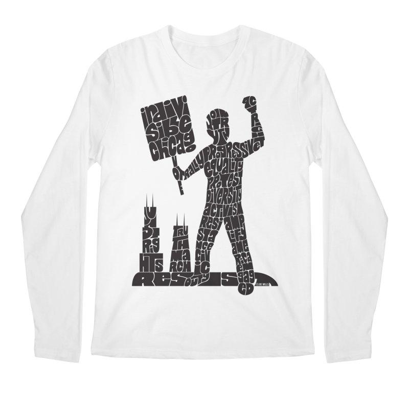 Joe Mills Black Men's Regular Longsleeve T-Shirt by Indivisible Chicago Store