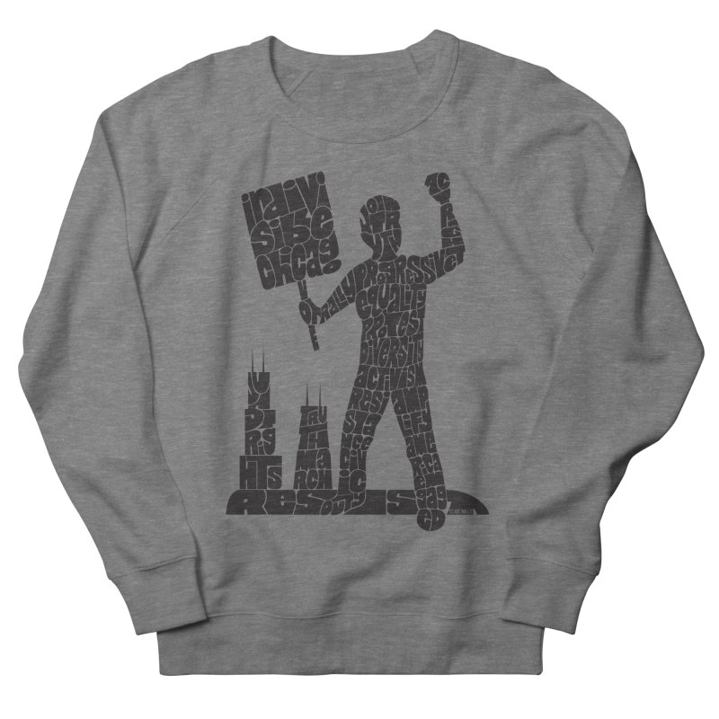 Joe Mills Black Men's French Terry Sweatshirt by Indivisible Chicago Store