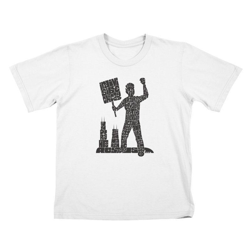 Joe Mills Black Kids T-Shirt by Indivisible Chicago Store