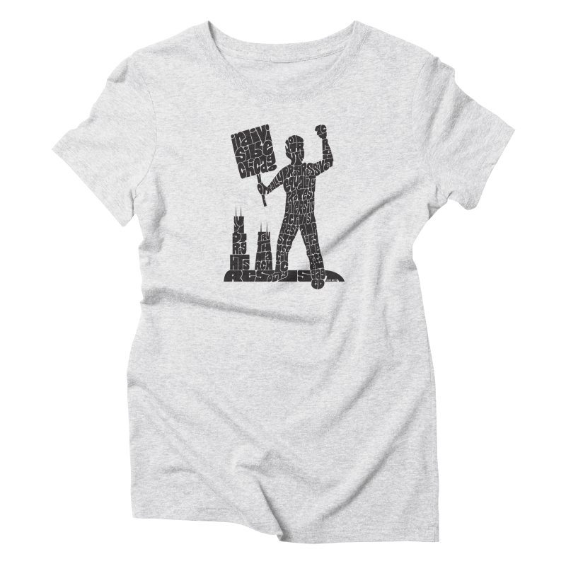 Joe Mills Black Women's T-Shirt by Indivisible Chicago Store