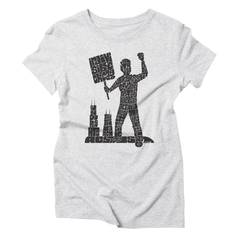 Joe Mills Black Women's Triblend T-Shirt by Indivisible Chicago Store