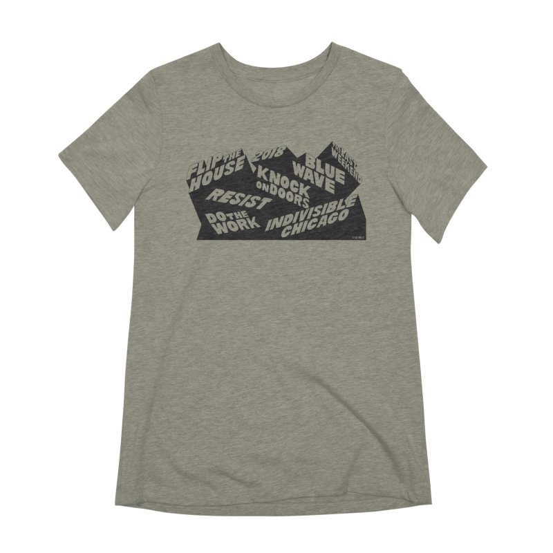 GOTV Women's Extra Soft T-Shirt by Indivisible Chicago Store