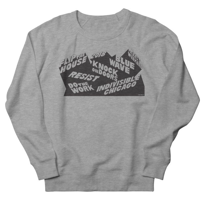 GOTV Men's French Terry Sweatshirt by Indivisible Chicago Store
