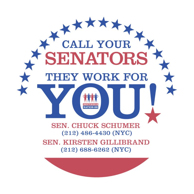 Call Your Senators!   by Indivisible Nation BK's Shop