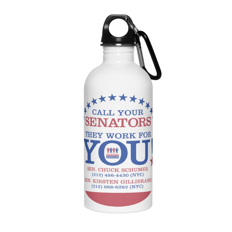 Call Your Senators! Accessories Water Bottle by Indivisible Nation BK's Shop