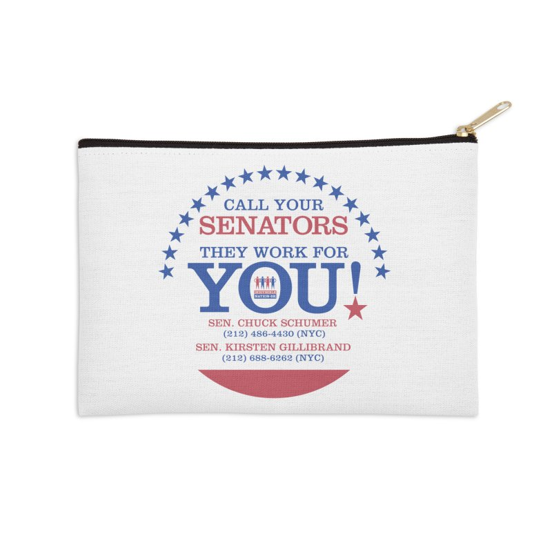 Call Your Senators! Accessories Zip Pouch by Indivisible Nation BK's Shop
