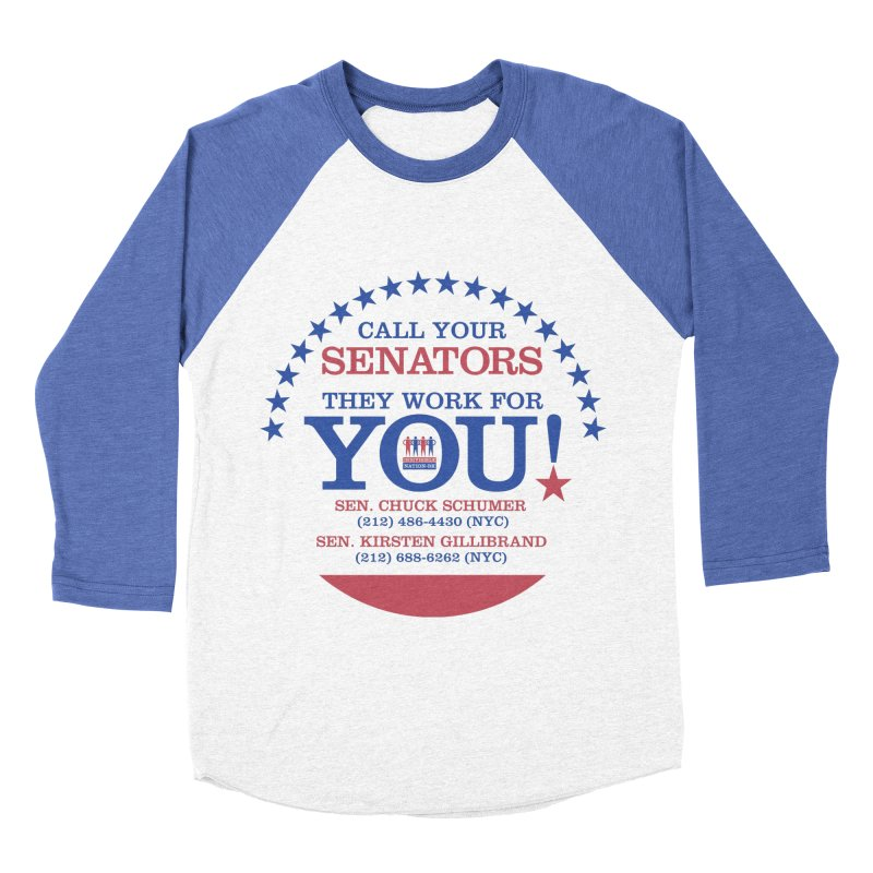 Call Your Senators! Women's Baseball Triblend Longsleeve T-Shirt by Indivisible Nation BK's Shop