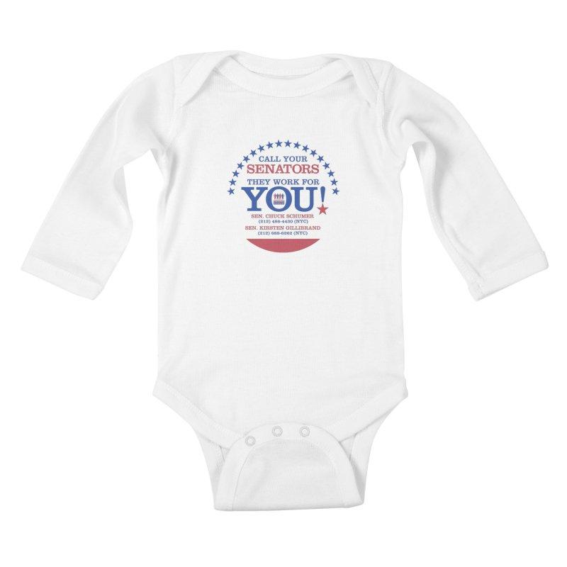 Call Your Senators! Kids Baby Longsleeve Bodysuit by Indivisible Nation BK's Shop