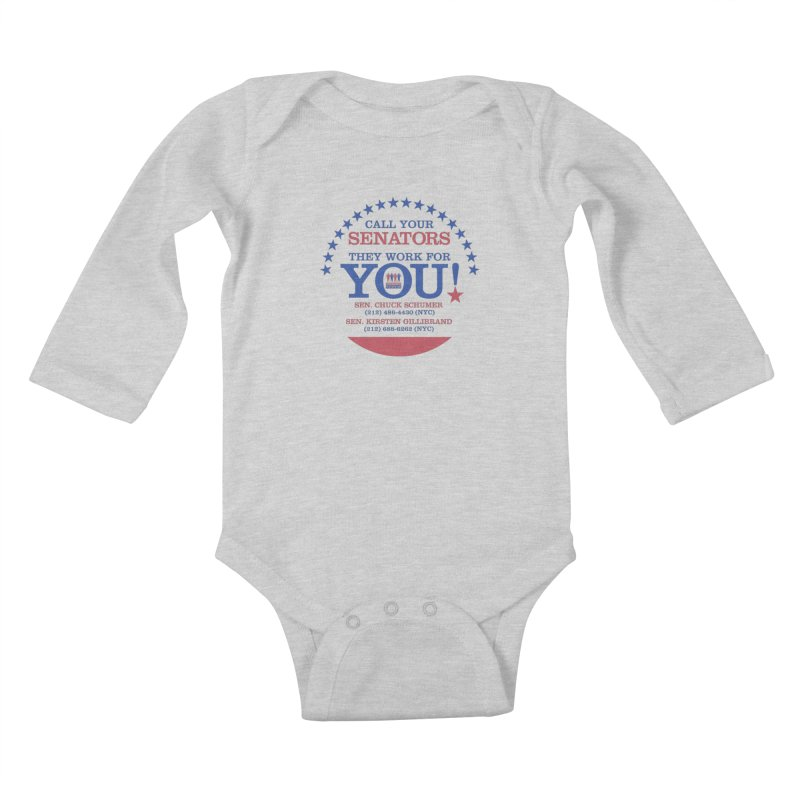 Call Your Senators! Kids Baby Longsleeve Bodysuit by Indivisible Nation BK's Shop