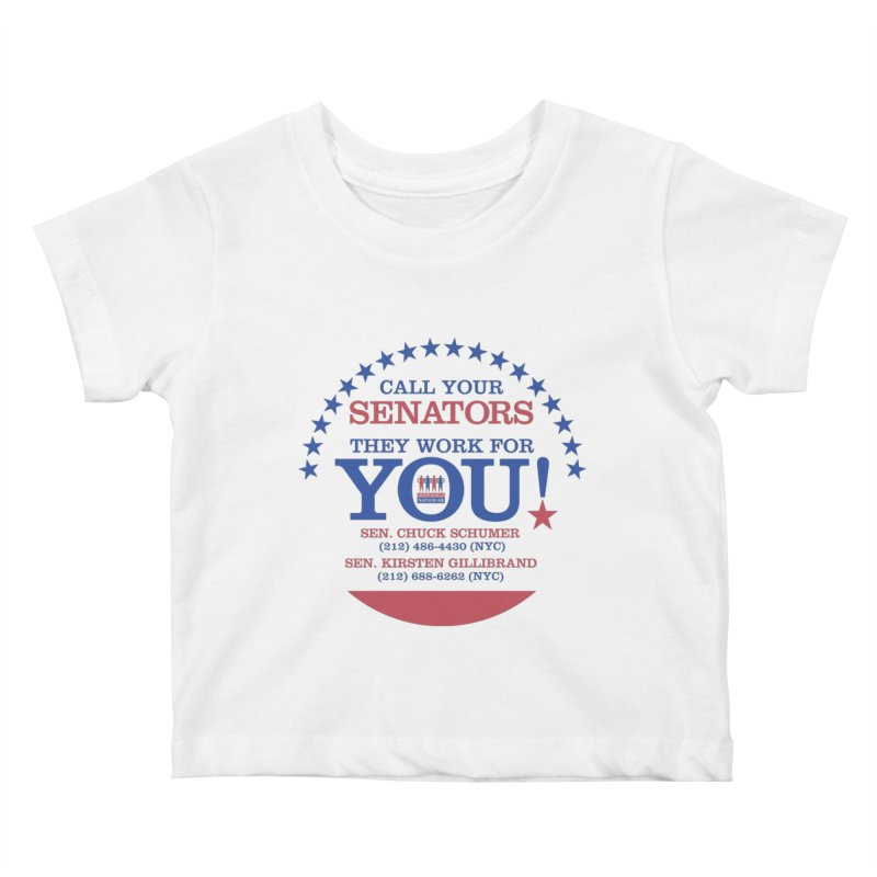Call Your Senators! Kids Baby T-Shirt by Indivisible Nation BK's Shop