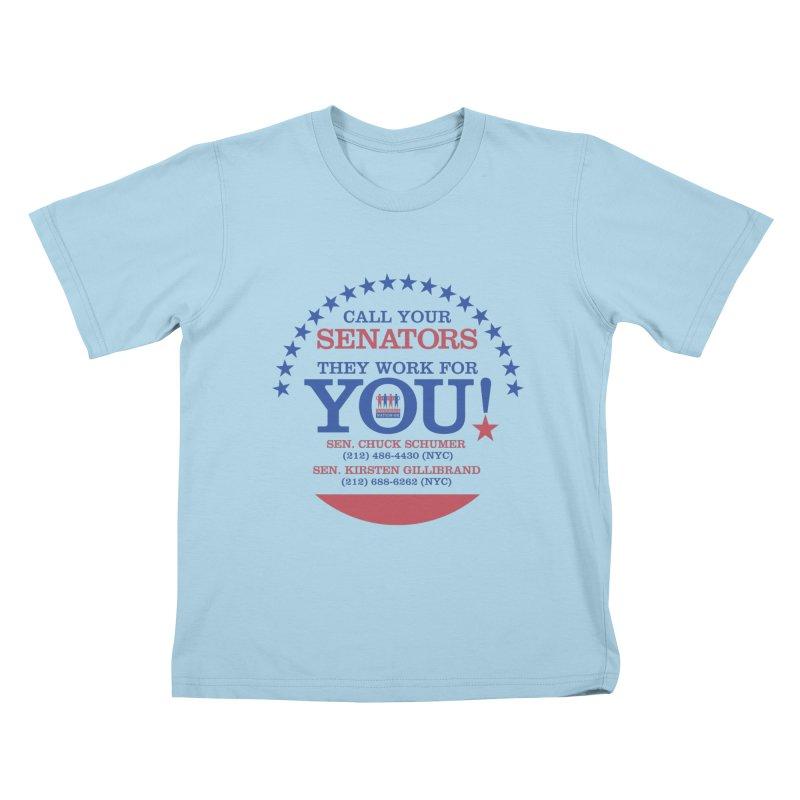 Call Your Senators! Kids T-Shirt by Indivisible Nation BK's Shop