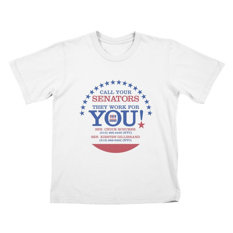 Call Your Senators! Kids T-Shirt by Indivisible Nation BK's Shop