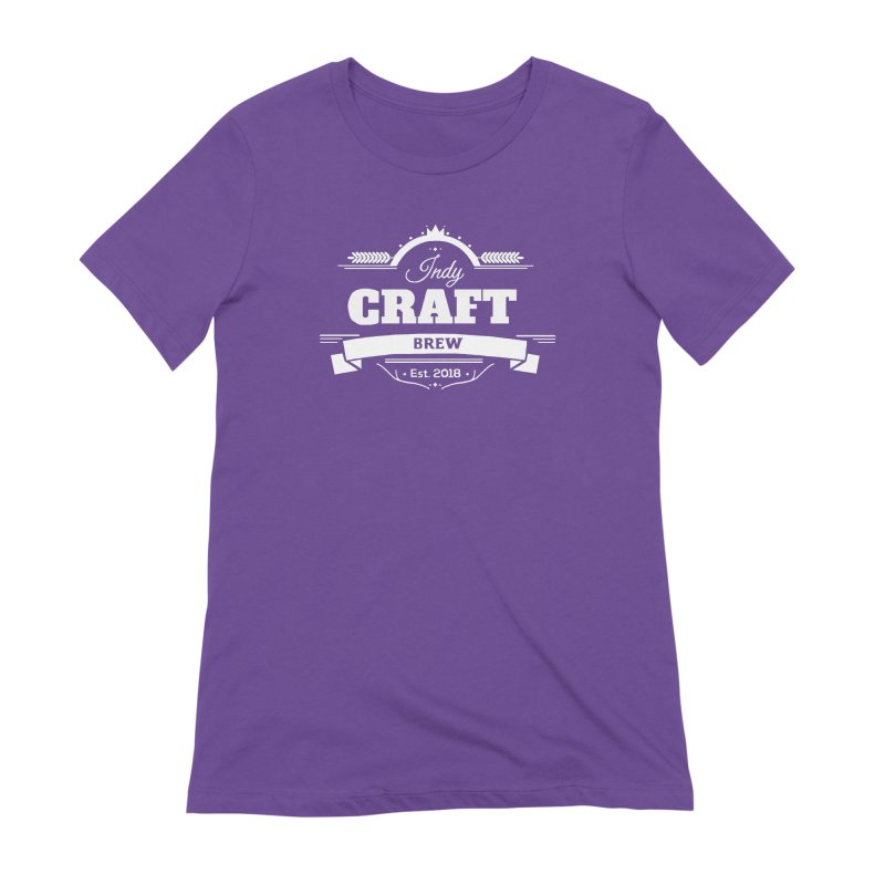 Large White ICB Logo Women's Extra Soft T-Shirt by Indy Craft Brew's Shop