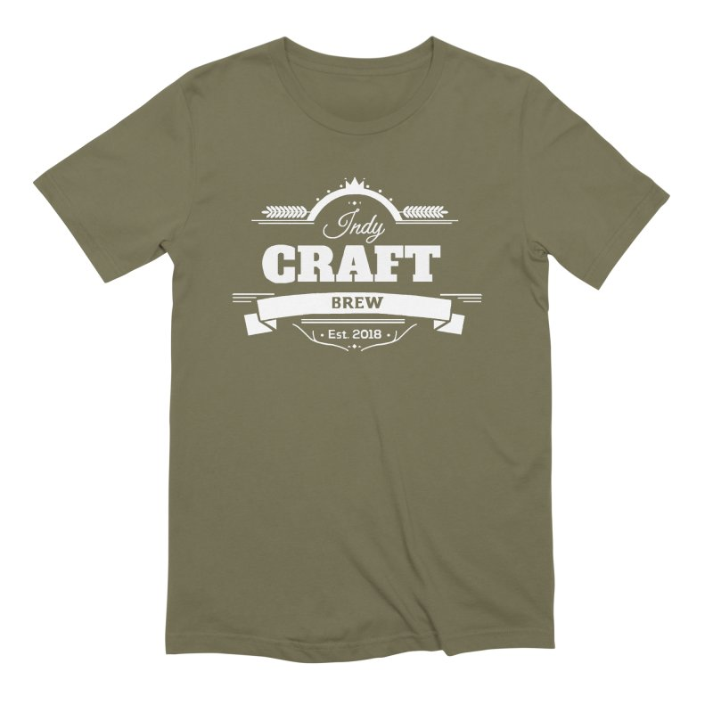 Large White ICB Logo Men's Extra Soft T-Shirt by Indy Craft Brew's Shop