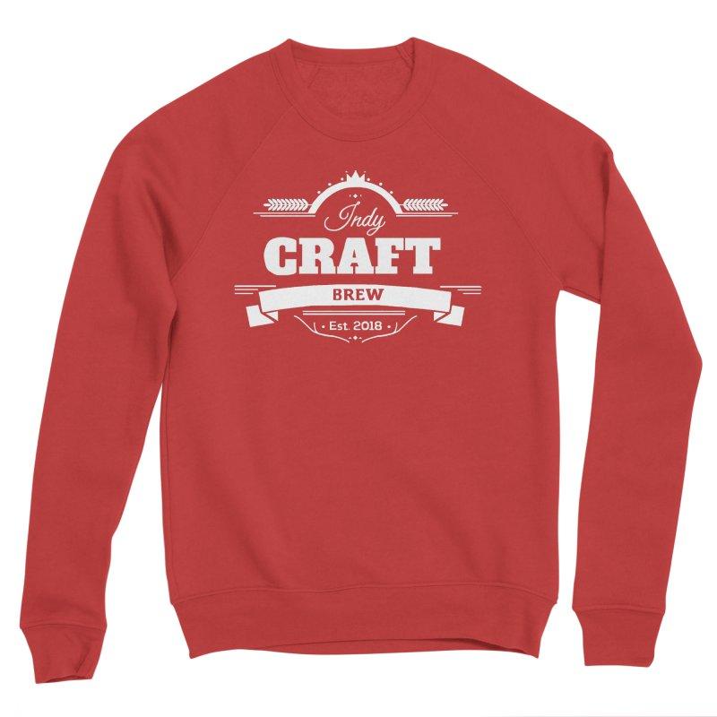 Large White ICB Logo Women's Sponge Fleece Sweatshirt by Indy Craft Brew's Shop