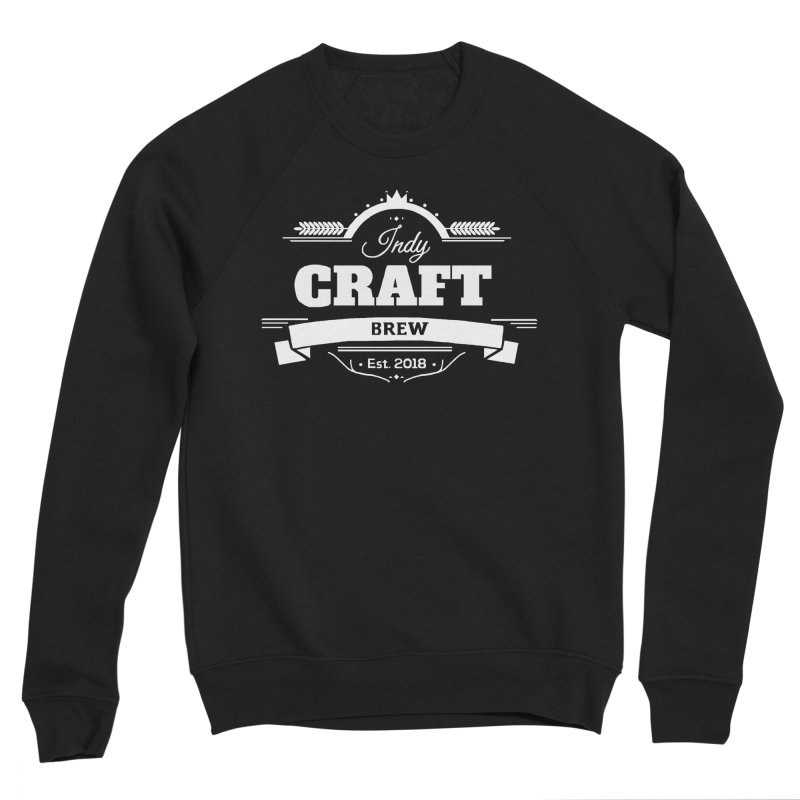 Large White ICB Logo Women's Sponge Fleece Sweatshirt by Indy Craft Brew's Shop