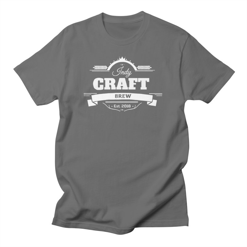 Large White ICB Logo Men's T-Shirt by Indy Craft Brew's Shop
