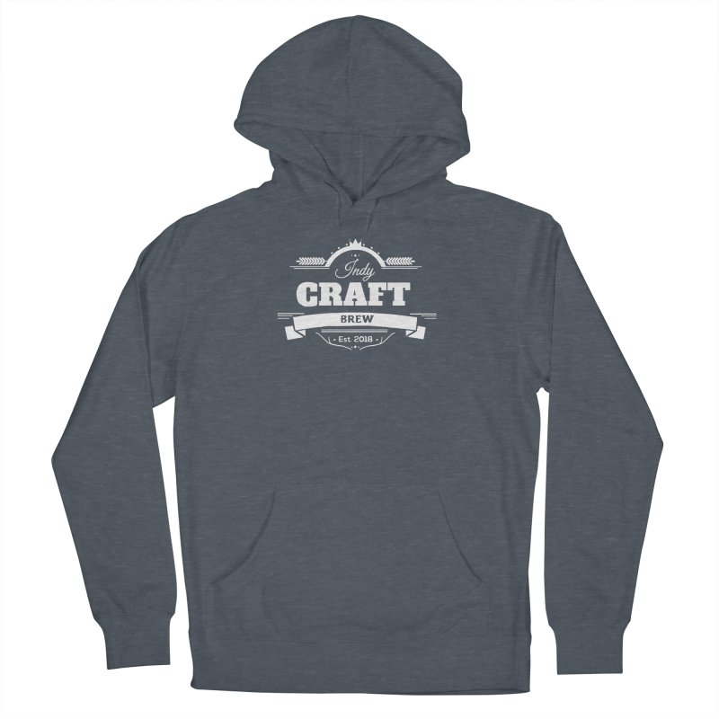 Large White ICB Logo Women's French Terry Pullover Hoody by Indy Craft Brew's Shop