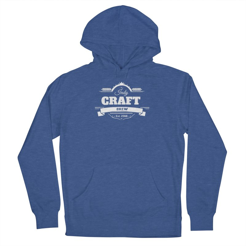 Large White ICB Logo Men's Pullover Hoody by Indy Craft Brew's Shop