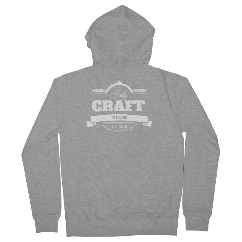 Large White ICB Logo Women's French Terry Zip-Up Hoody by Indy Craft Brew's Shop