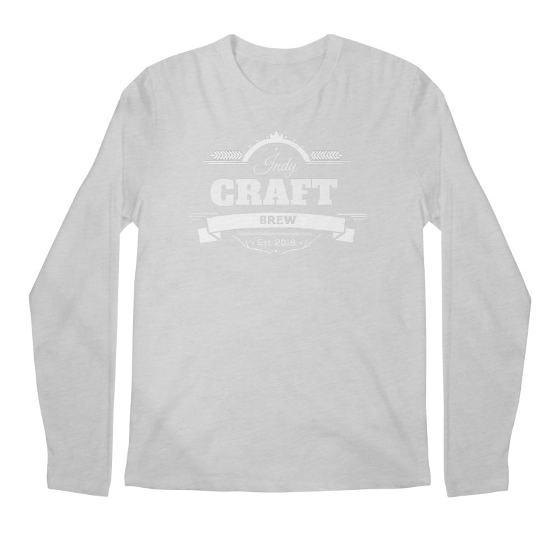 Large White ICB Logo Men's Regular Longsleeve T-Shirt by Indy Craft Brew's Shop