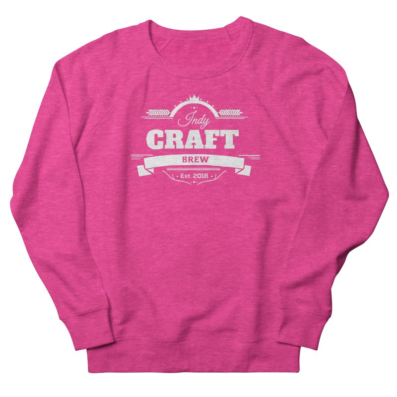 Large White ICB Logo Men's French Terry Sweatshirt by Indy Craft Brew's Shop