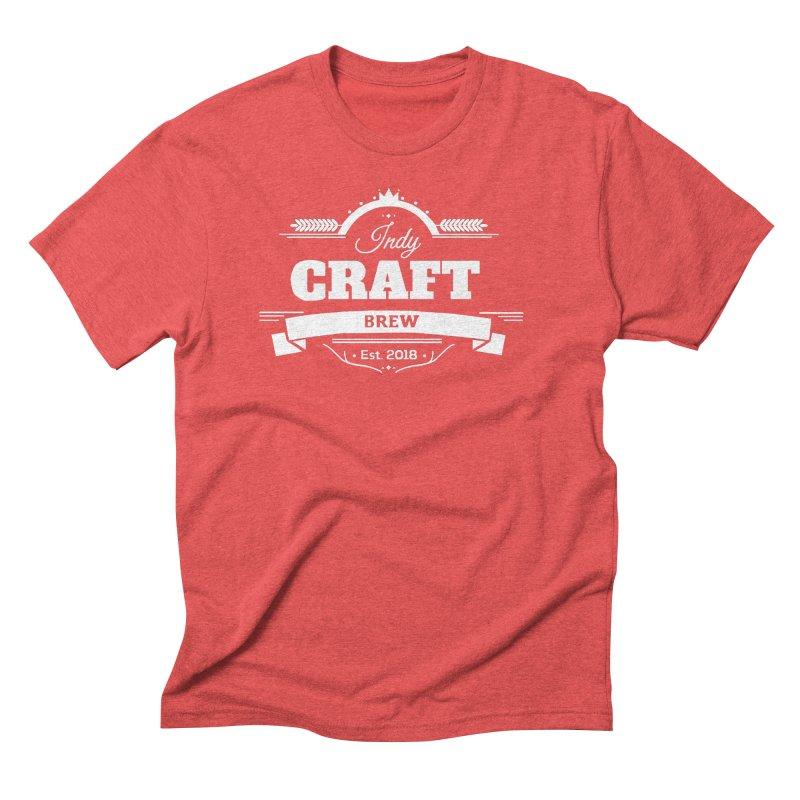 Large White ICB Logo Men's Triblend T-Shirt by Indy Craft Brew's Shop