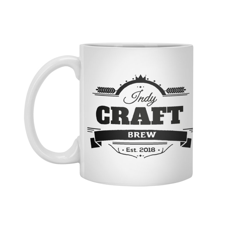 Large Black ICB Logo Accessories Standard Mug by Indy Craft Brew's Shop