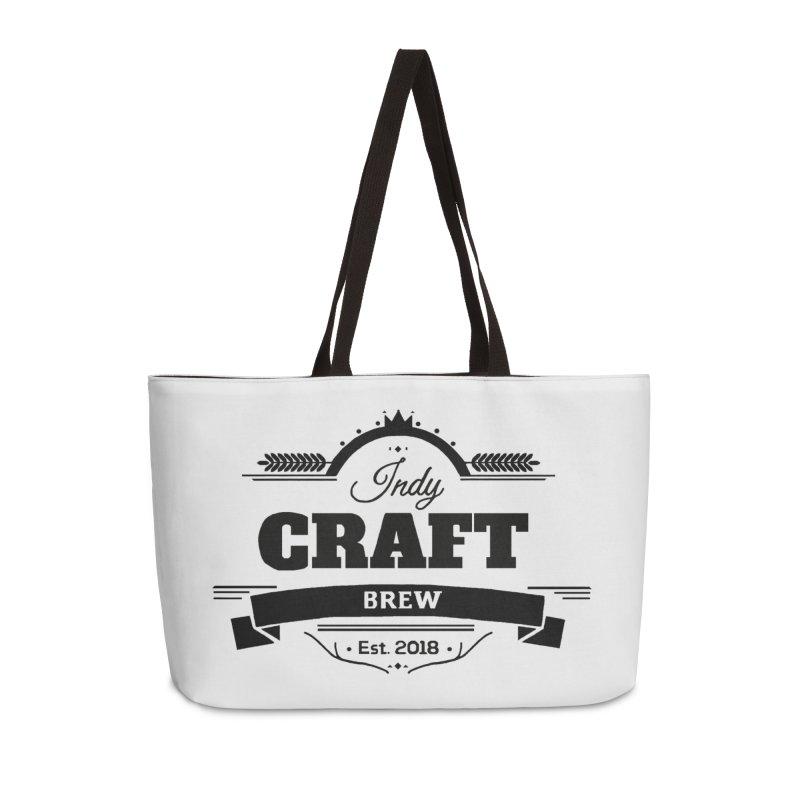 Large Black ICB Logo Accessories Weekender Bag Bag by Indy Craft Brew's Shop
