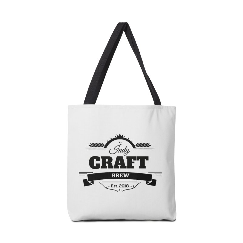 Large Black ICB Logo Accessories Tote Bag Bag by Indy Craft Brew's Shop