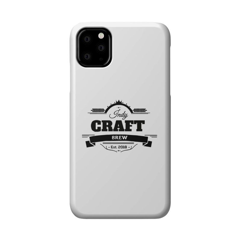 Large Black ICB Logo Accessories Phone Case by Indy Craft Brew's Shop
