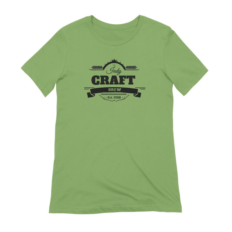 Large Black ICB Logo Women's Extra Soft T-Shirt by Indy Craft Brew's Shop