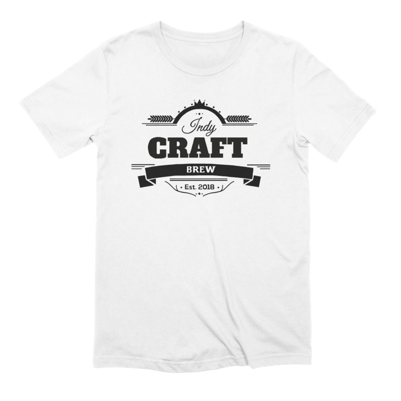 Large Black ICB Logo Men's Extra Soft T-Shirt by Indy Craft Brew's Shop