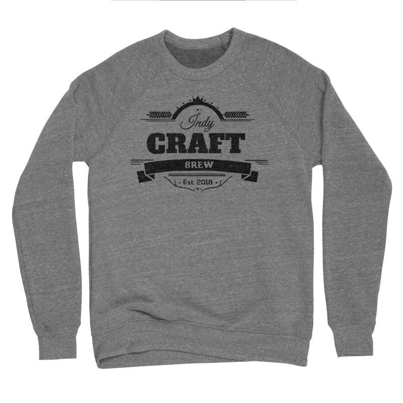 Large Black ICB Logo Men's Sponge Fleece Sweatshirt by Indy Craft Brew's Shop