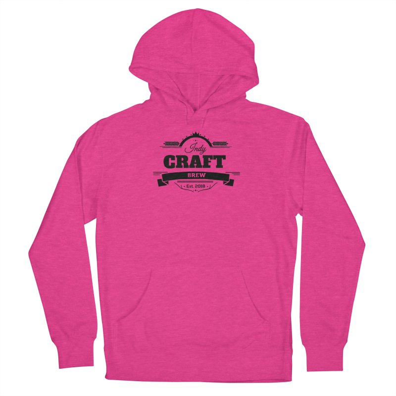 Large Black ICB Logo Women's French Terry Pullover Hoody by Indy Craft Brew's Shop