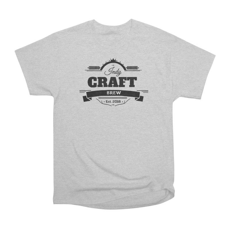 Large Black ICB Logo Men's Heavyweight T-Shirt by Indy Craft Brew's Shop