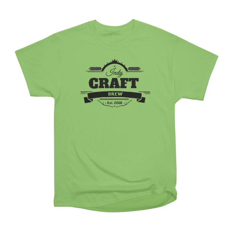 Large Black ICB Logo Women's Heavyweight Unisex T-Shirt by Indy Craft Brew's Shop