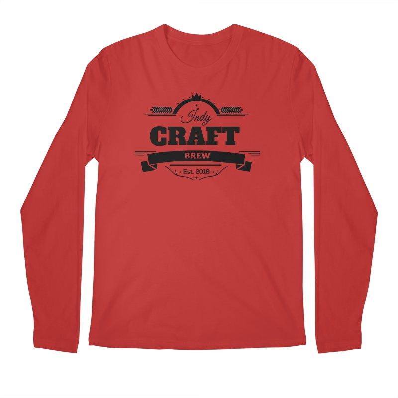 Large Black ICB Logo Men's Regular Longsleeve T-Shirt by Indy Craft Brew's Shop